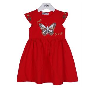 Raudona Suknelė mergaitei DRUGELIS