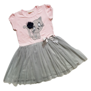 Suknele mergaitei su tiulio sijonu