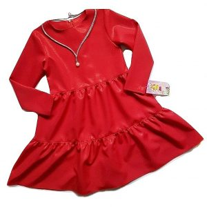 Puosni raudona suknele mergaitei