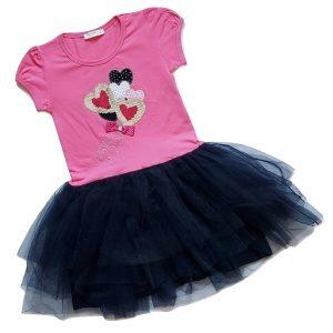 Puosni suknele mergaitei su tiulio sijonu