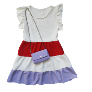 Lengva vasarine suknele su rankinuku mergaitei