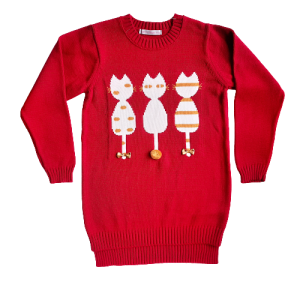 megztinis su katytemis mergaitei