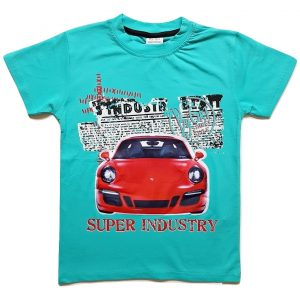 Marškinėliai maikute berniukui CAR (žybsi lempos)