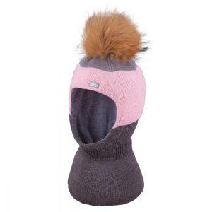 merino vilnos kepurė šalmas mergaitei