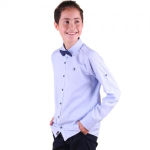 Žydri marškiniai su varlyte berniukui