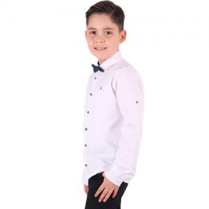 Balti marškiniai su varlyte berniukui
