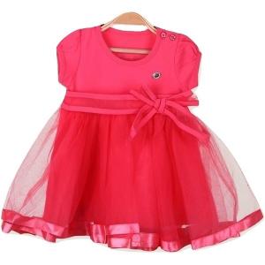 Breeze rožinė puošni suknelė mergaitei