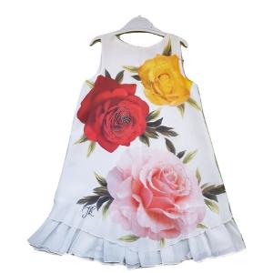 Puošni suknelė Mergaitei su rozemis