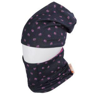 """Stilingas """"Mama Jums"""" komplektukas paaugliams: dviguba medvilninė kepurė su mova .mergaitei"""