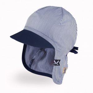 vasarine kepure berniukui su snapeliu ir kaklo apsauga